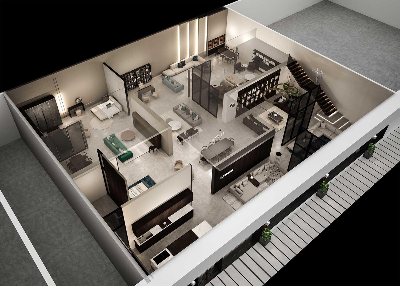 Rendering 3D per fiere concept e negozi