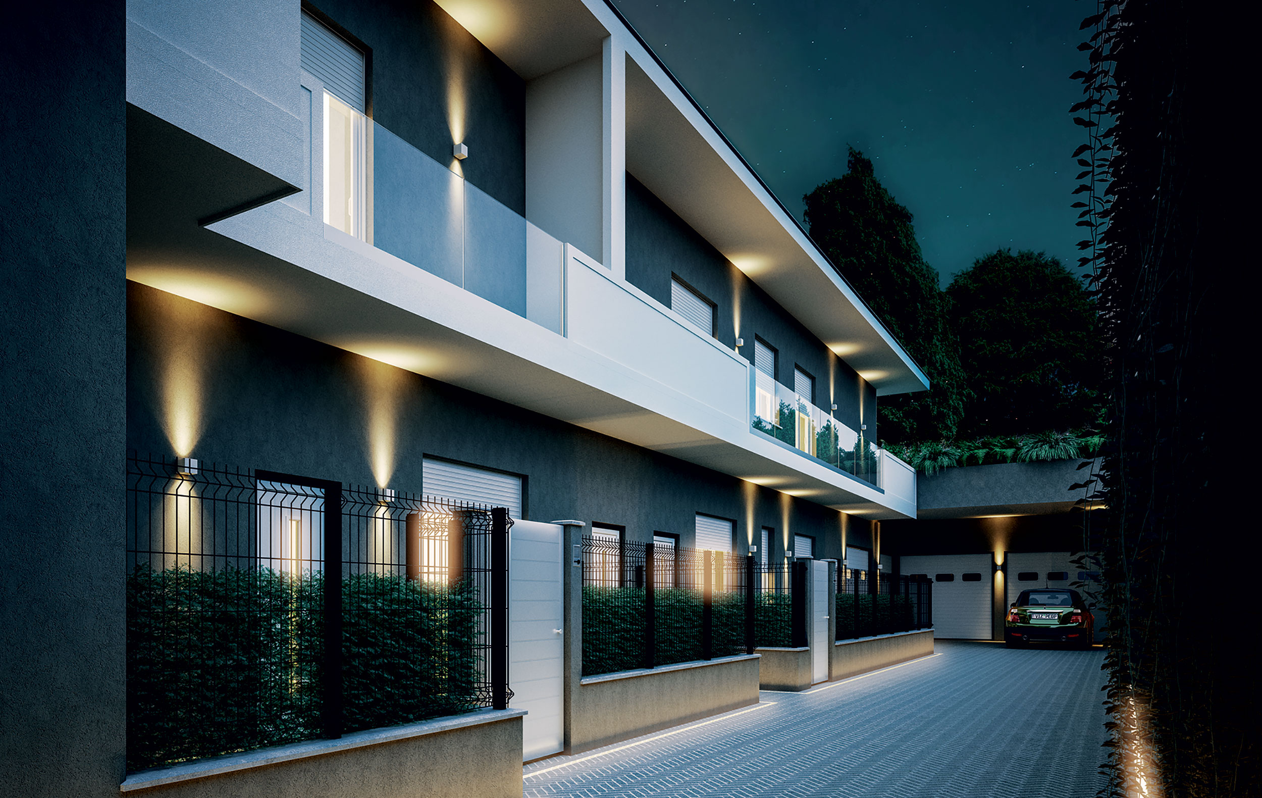 Render_Costruzioni_moderne_Illuminaizone_esterna_Milano