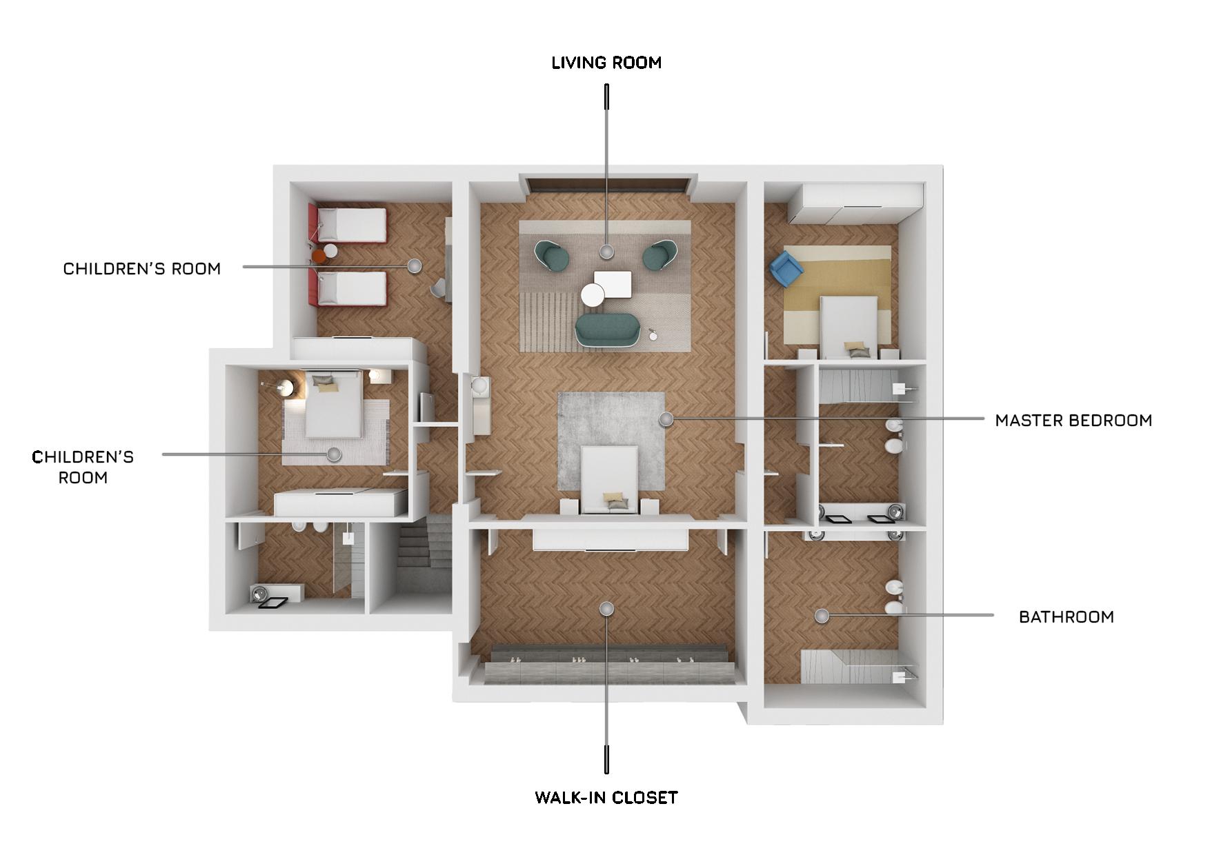 3D plan for real estate